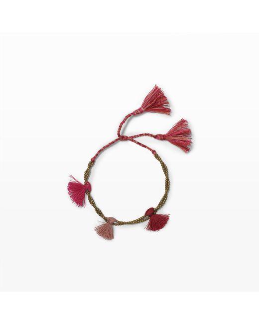 Club Monaco | Pink Tassel Bracelet | Lyst