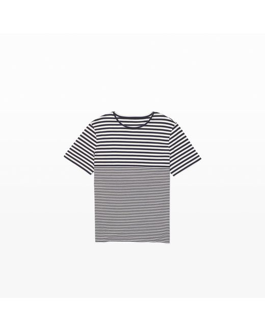Club Monaco | Blue Varied Stripe Tee for Men | Lyst