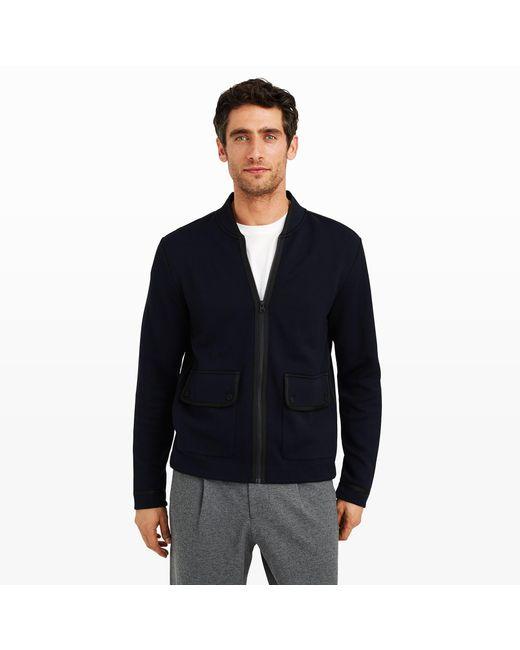 Club Monaco | Blue Taped Bomber Jacket for Men | Lyst