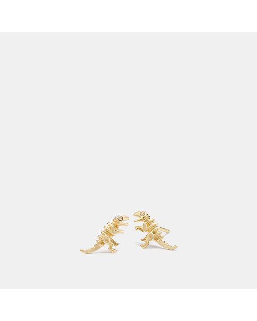 COACH - Metallic Mini Demi-fine Rexy Stud Earrings - Lyst