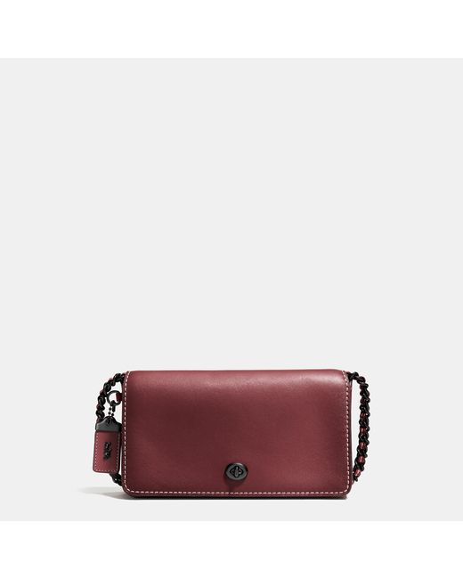 Coach Dinky Crossbody In Burnished Glovetanned Leather In