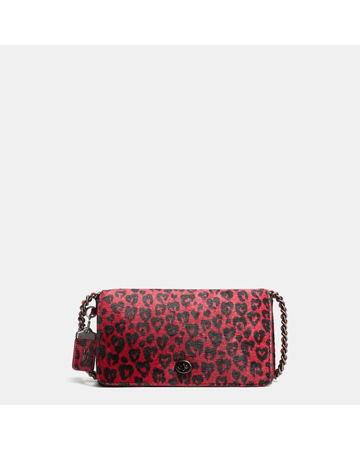 COACH | Red Dinky In Printed Haircalf | Lyst