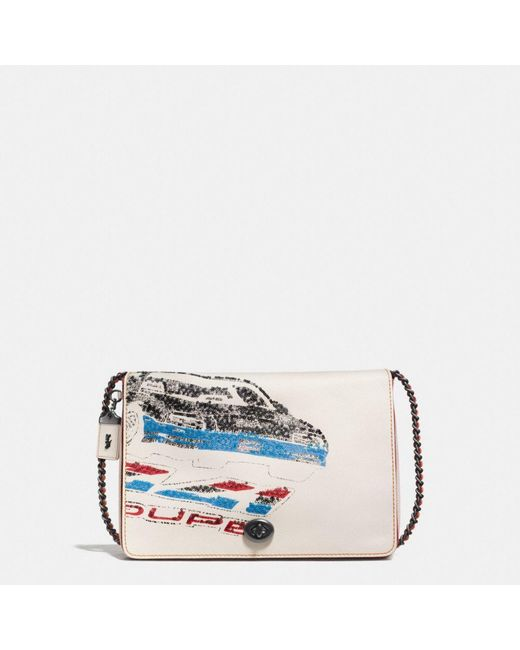 COACH | Multicolor Dinky 32 In Glovetanned Leather With Car Embellishment | Lyst