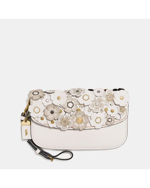 COACH | Multicolor Clutch In Glovetanned Leather With Tea Rose | Lyst