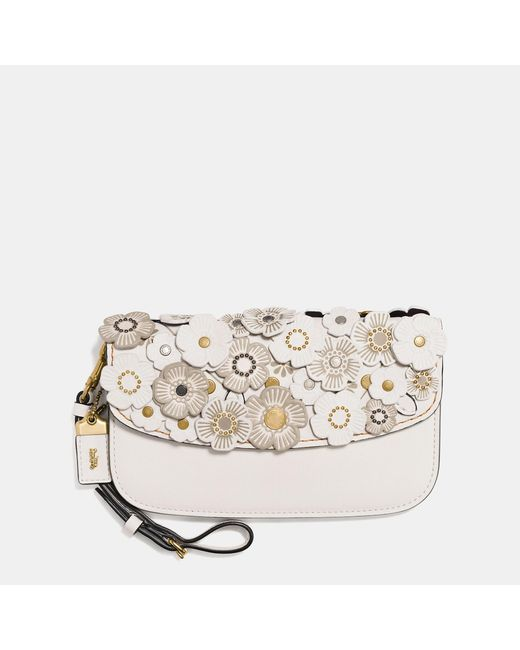 COACH | Multicolor Small Clutch In Glovetanned Leather With Tea Rose | Lyst