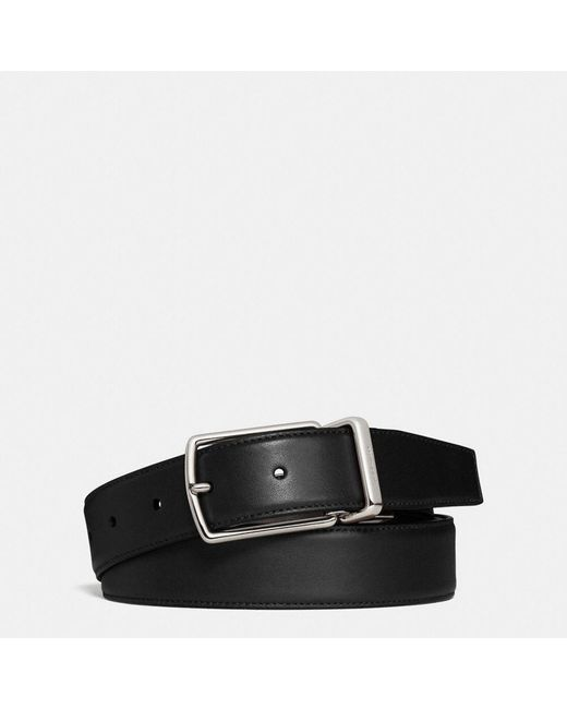 COACH   Black Modern Harness Cut-to-size Reversible Smooth Leather Belt for Men   Lyst