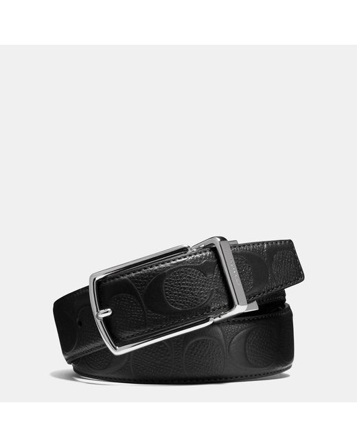 COACH | Black Modern Harness Cut-to-size Reversible Signature Crossgrain Leather Belt for Men | Lyst