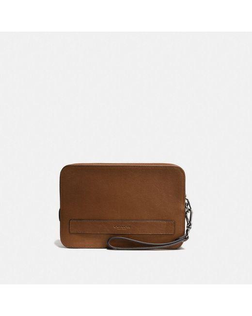 COACH | Brown Pouchette In Sport Calf Leather | Lyst