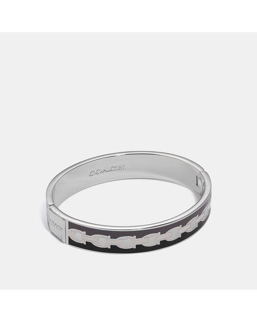 COACH - Metallic Signature Chain Hinged Bangle - Lyst