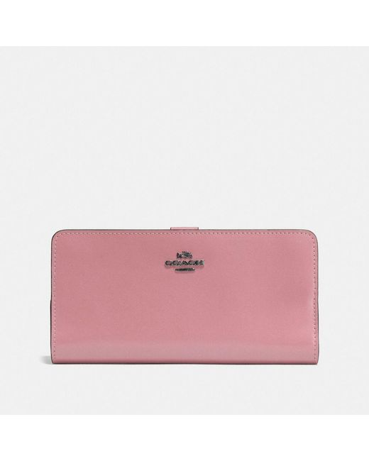 COACH | Pink Skinny Wallet In Refined Calf Leather | Lyst