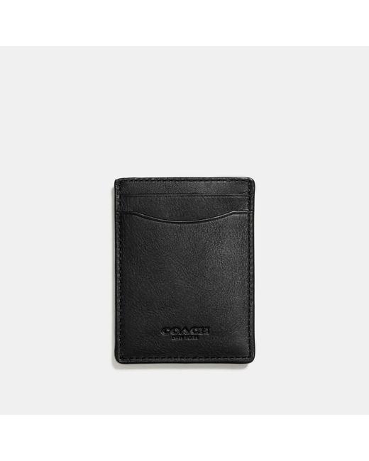 COACH - Black 3-in-1 Card Case In Sport Calf Leather for Men - Lyst