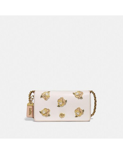 COACH - Multicolor Dinky With Rose Applique - Lyst
