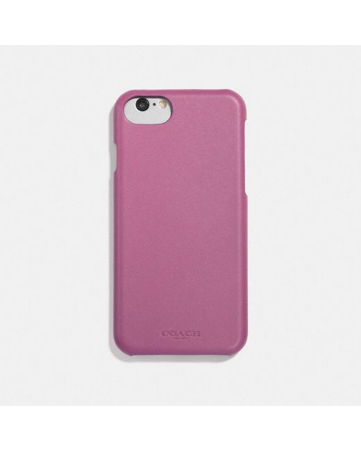 COACH - Pink Leather Iphone Case - Lyst
