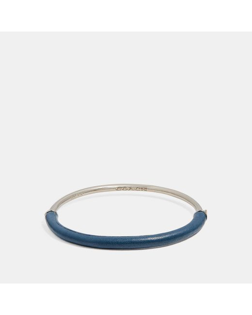 COACH - Blue Wrapped Bangle - Lyst