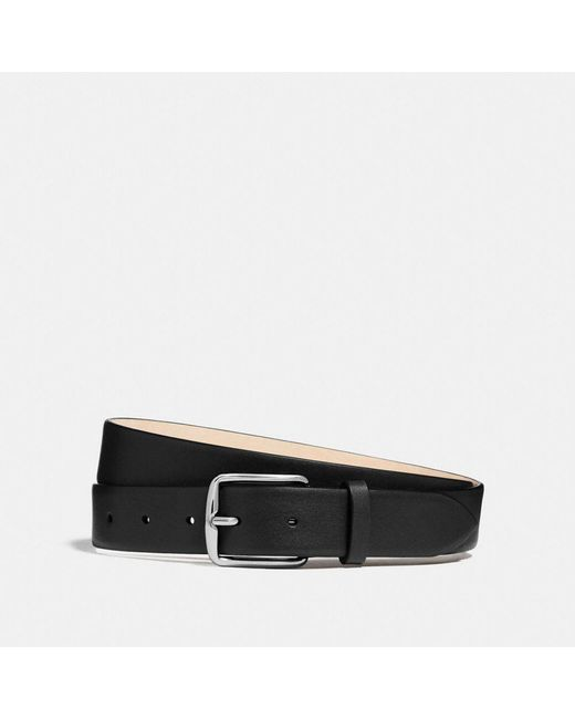 COACH - Black Dress Belt for Men - Lyst
