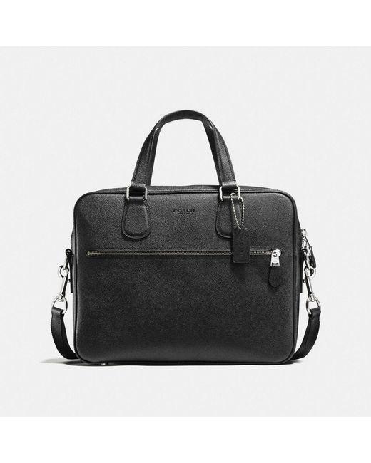 COACH - Black Hudson Bag 5 In Crossgrain Leather for Men - Lyst