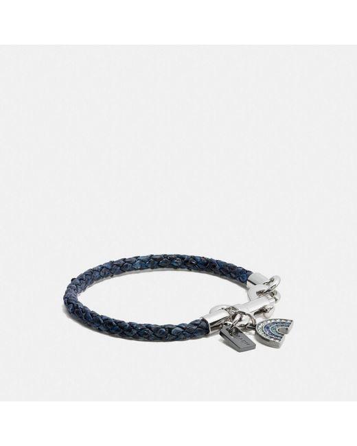 COACH | Blue Charms Exotic Friendship Bracelet | Lyst