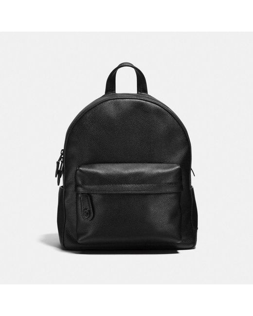 COACH - Black Campus Backpack In Polished Pebble Leather - Lyst