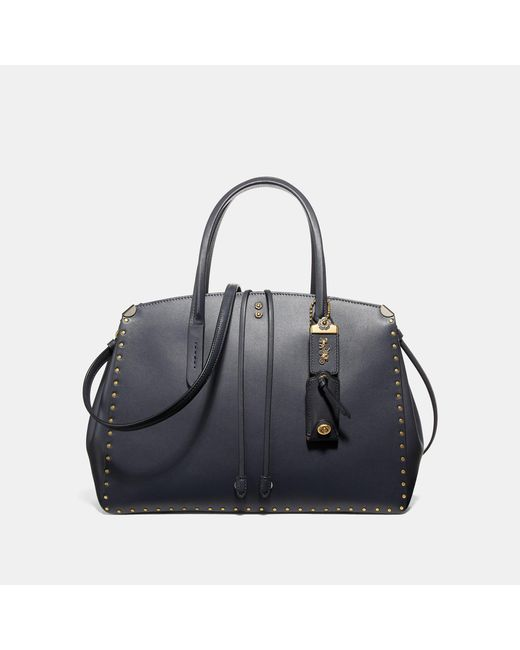 COACH - Blue Cooper Carryall With Rivets - Lyst