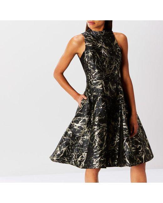 Coast | Black Venus Marble Jacquard Dress | Lyst