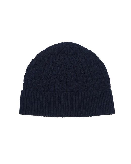 b779d3327a1 lyst lyle scott mouline bobble hat blue men brand new f0c4a d1d4f ...