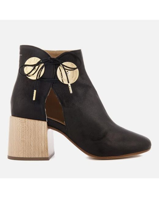 Mm6 Maison Margiela wood heel boots buy cheap low shipping fee RgLsQ4lN