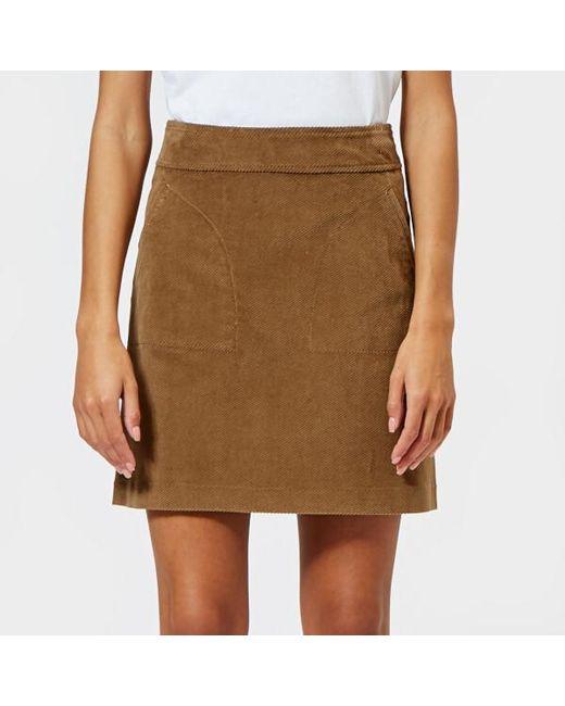 A.P.C. - Natural Women's Shanya Skirt - Lyst