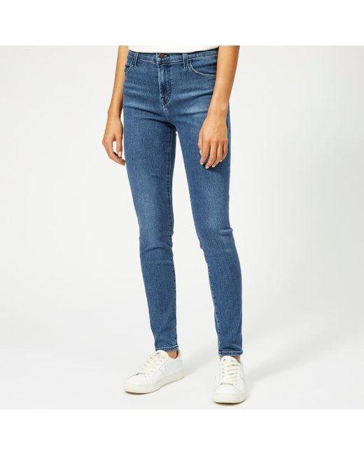 bd76c4d00388 J Brand Women's Maria High Rise Skinny Jeans in Blue - Lyst