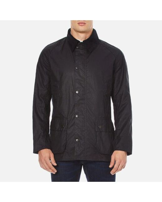Barbour - Blue Ashby Wax Jacket for Men - Lyst