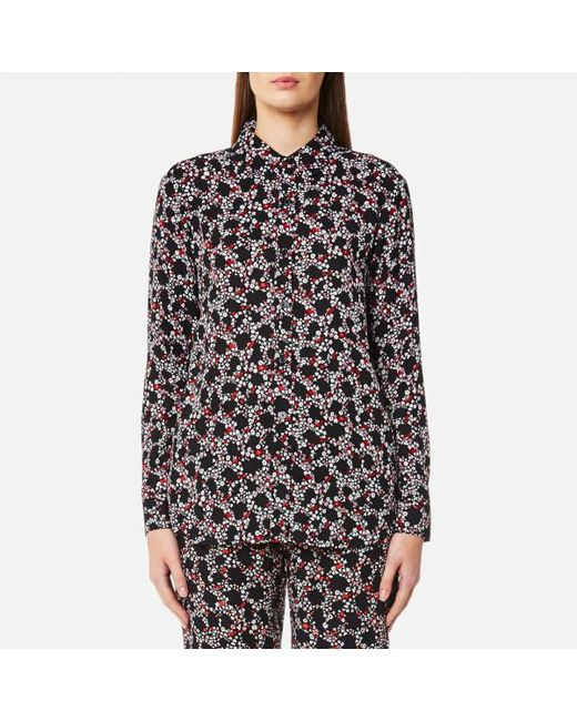MICHAEL Michael Kors - Black Women's Hayden Button Down Shirt - Lyst