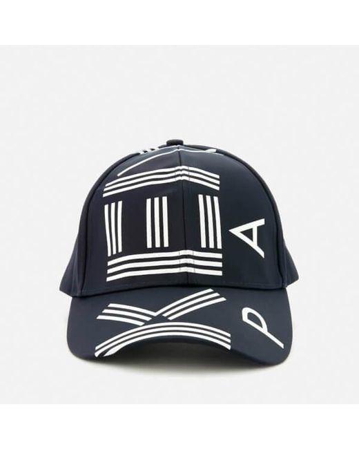 KENZO Logo Printed Cap in Blue for Men - Save 52% - Lyst b059b476ffaa
