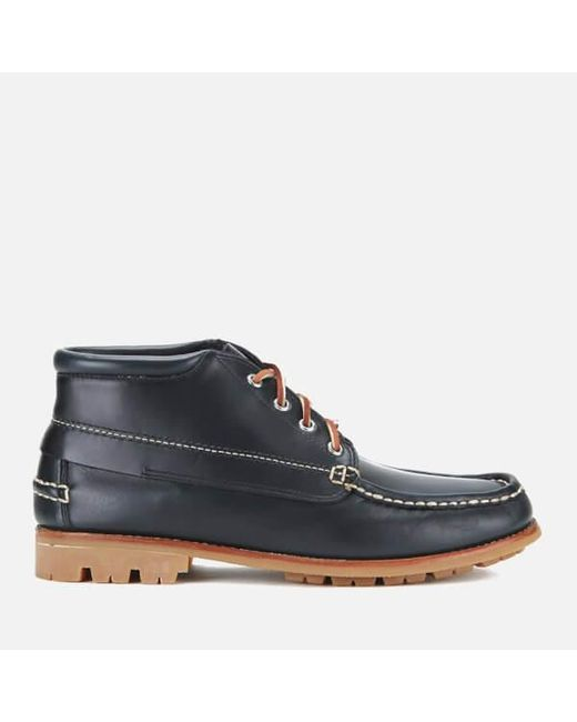 G.H. Bass & Co. | Blue G.h. Bass Men's Ranger Leather Moc Montgomery Mid Boots for Men | Lyst