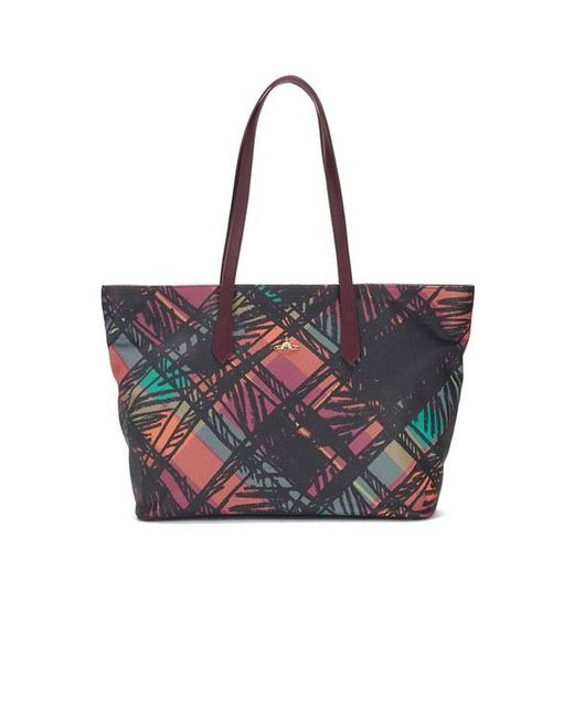 Vivienne Westwood | Multicolor Women's Scribble Tartan Large Tote Bag | Lyst