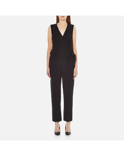 Theory | Black Women's Alvmie Admiral Crepe Light Jumpsuit | Lyst