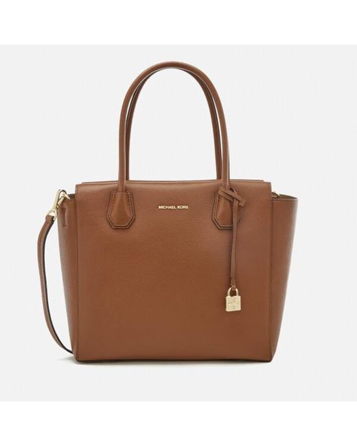 MICHAEL Michael Kors | Brown Women's Mercer Large Satchel | Lyst