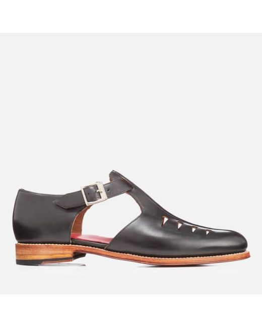 GRENSON | Black Men's Rafferty Leather Buckled Shoes for Men | Lyst