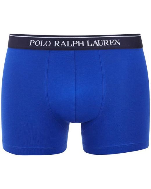 polo ralph lauren men 39 s 3 pack boxer shorts in blue for. Black Bedroom Furniture Sets. Home Design Ideas