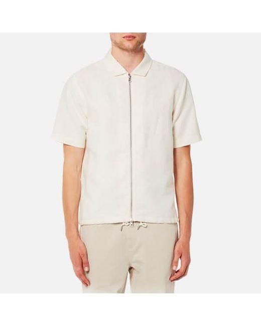 Folk   Natural Men's Linen Zip Shirt for Men   Lyst