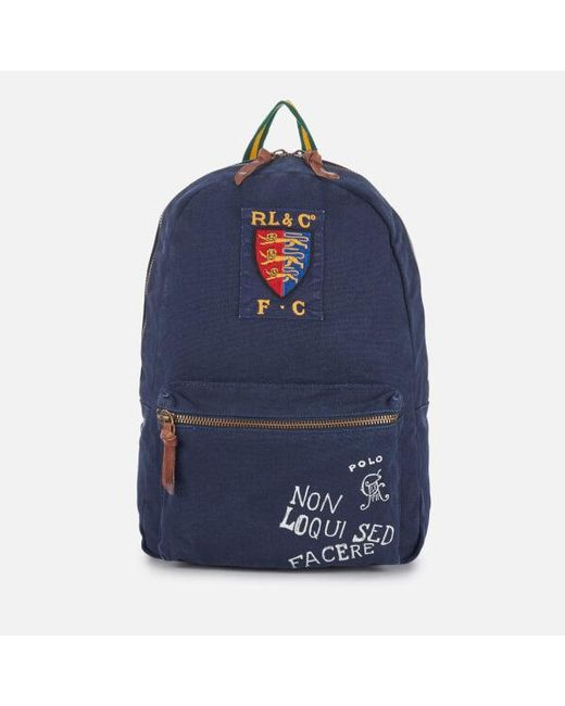Polo Ralph Lauren - Blue Men s Canvas Logo Backpack for Men - Lyst ... f92c0de898dd2