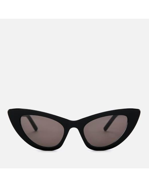 3187748635 Saint Laurent - Black Women s Cateye Frame Sunglasses - Lyst ...
