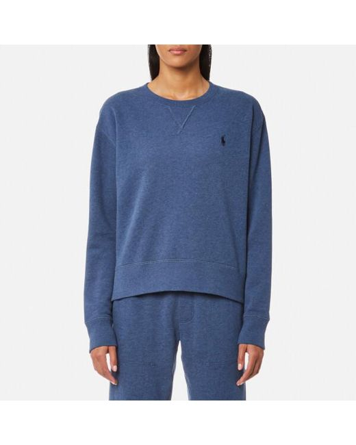 Ralph Lauren | Blue Women's Crew Neck Sweatshirt | Lyst