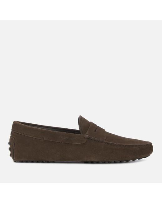 Tod s Men s New Gommino Loafers in Brown for Men - Lyst 2812fd080edd