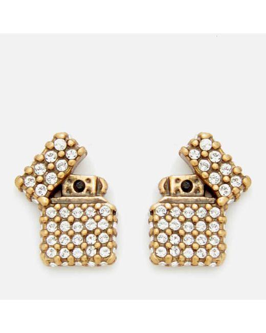 Marc Jacobs   Metallic Women's Strass Lighter Studs   Lyst