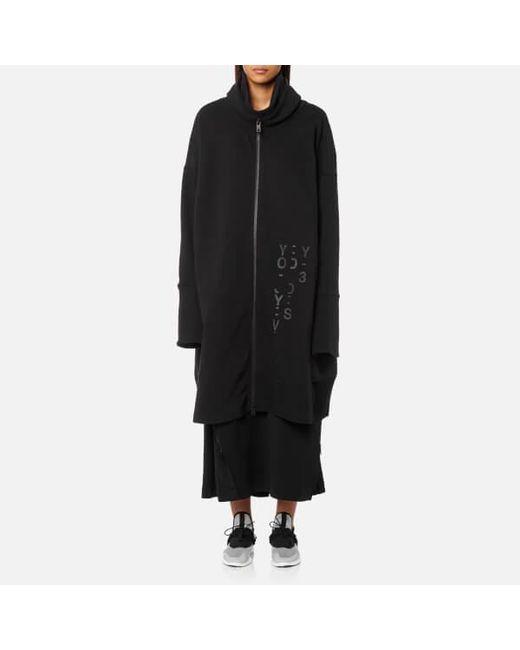 lyst y 3 y3 women s long jacket in black