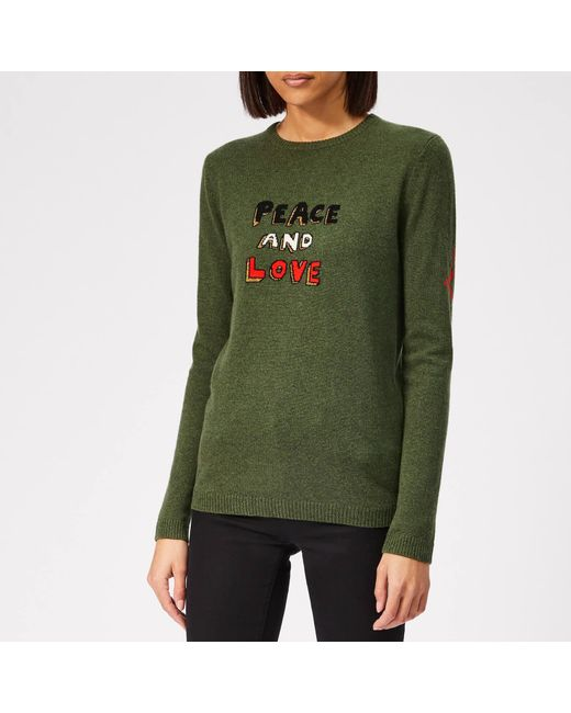 eb0b2d95c50a Bella Freud Peace And Love Cashmere Jumper in Green - Save 35% - Lyst