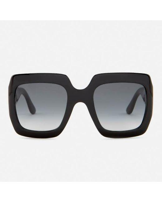 2934af526d Gucci Women s Large Square Frame Sunglasses in Black - Lyst