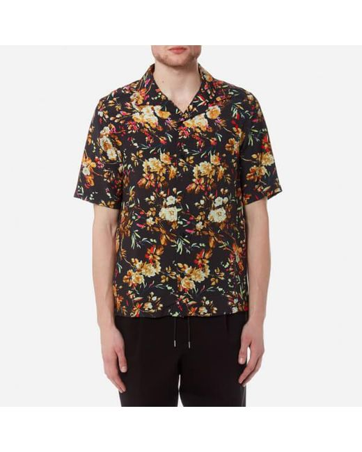 McQ Alexander McQueen - Black Men's Billy Floral Print Shirt for Men - Lyst