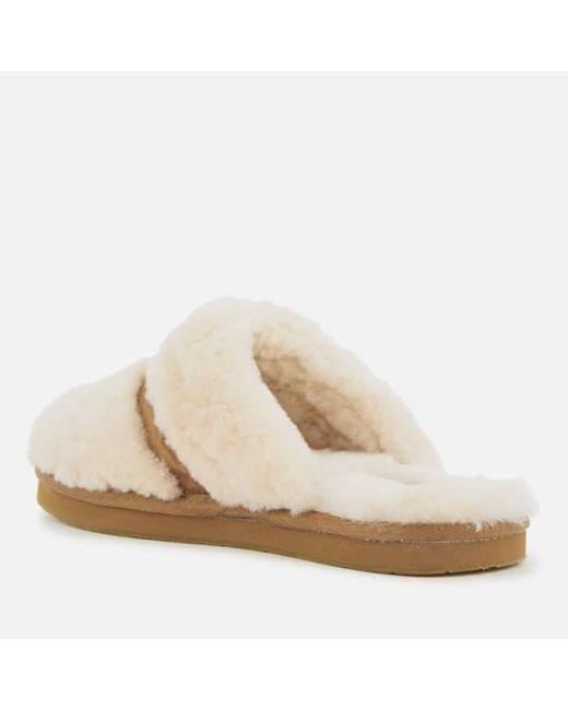 c41a9cd5751 ... Lyst Ugg - White Women s Dalla Sheepskin Slippers ...
