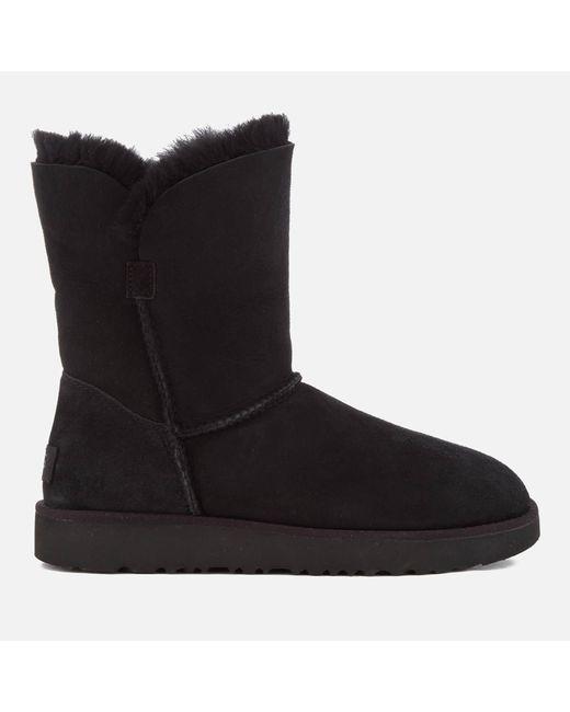 cbb5c3e300f Women's Black Classic Cuff Short Sheepskin Boots