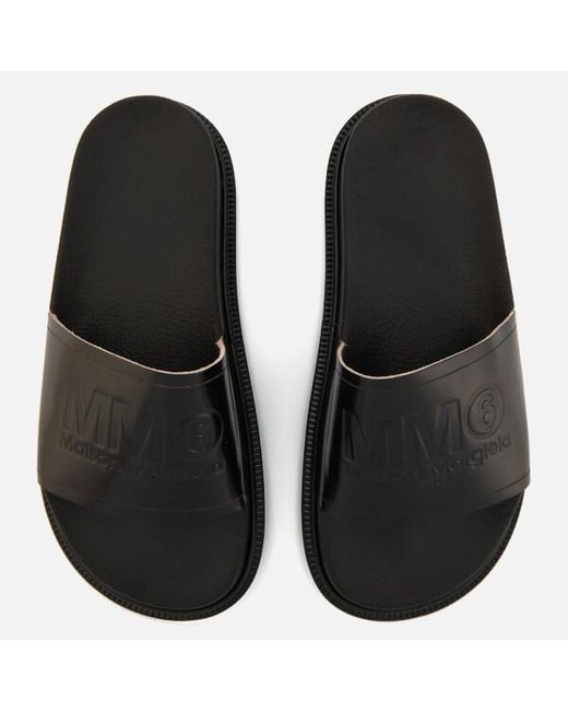 MM6 by Maison Martin Margiela - Black Women's Slide Sandals - Lyst